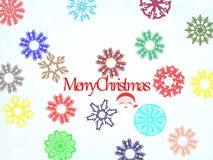 Abbildung der frohen Weihnachten Stockbild