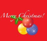 Abbildung der frohen Weihnachten Stockbilder