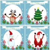 Abbildung der frohen Weihnachten und des neuen Jahres Lizenzfreie Stockbilder