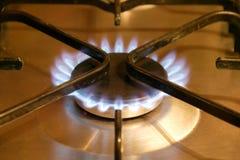 Abbildung der Gasflamme in der Schwärzung Lizenzfreie Stockfotos