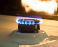 Abbildung der Gasflamme in der Schwärzung Stockfotografie