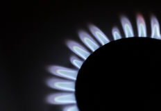 Abbildung der Gasflamme in der Schwärzung Stockbilder