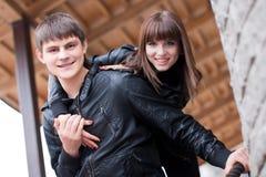 Abbildung der Gelächterpaare Lizenzfreie Stockfotografie