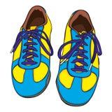 Abbildung der getrennten Schuhe Lizenzfreies Stockbild