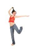 Abbildung der glücklichen Frau Stockfotos