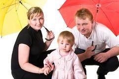 Abbildung der glücklichen jungen Familie Stockfoto