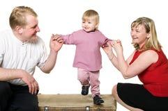Abbildung der glücklichen jungen Familie Stockfotos
