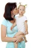 Abbildung der glücklichen Mutter mit Lizenzfreies Stockfoto