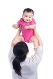 Abbildung der glücklichen Mutter mit entzückendem Schätzchen Stockfotos