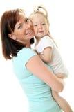 Abbildung der glücklichen Mutter mit Schätzchen Stockbild