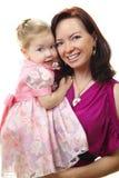Abbildung der glücklichen Mutter mit Schätzchen Lizenzfreies Stockbild