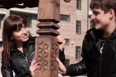 Abbildung der glücklichen Paare Stockfoto