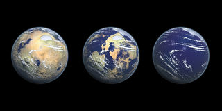 Abbildung der globale Erwärmung-Grafik-3D Lizenzfreies Stockbild
