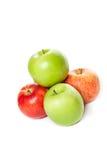 Abbildung der grünen und roten Äpfel Lizenzfreie Stockfotos
