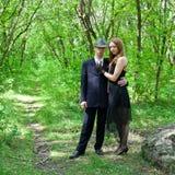 Abbildung der jungen schönen Paare Lizenzfreies Stockbild