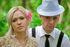 Abbildung der jungen schönen Paare Stockfotos