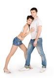 Abbildung der jungen stattlichen Paare Stockfoto