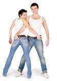 Abbildung der jungen stattlichen Paare Lizenzfreie Stockfotografie