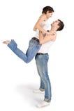 Abbildung der jungen stattlichen Paare Lizenzfreie Stockfotos