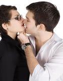 Abbildung der jungen stattlichen Paare Stockfotografie