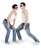 Abbildung der jungen stattlichen Paare Stockbilder