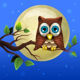 Abbildung der Karikatur Owl Stockfotografie