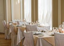 Abbildung der leeren teuren Gaststätte Lizenzfreie Stockfotos