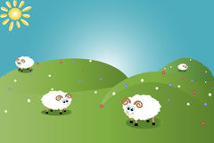 Abbildung der lustigen Schafe Lizenzfreies Stockbild