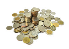 Abbildung der Münzen von Thailand Stockbild