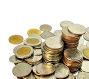 Abbildung der Münzen von Thailand Stockbilder