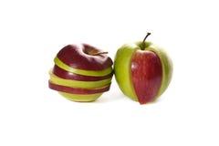 Abbildung der Mischäpfel Stockbilder