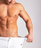 Abbildung der muskulösen Manneskarosserie Stockfoto