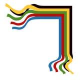 Abbildung der olympischen Farbbänder Stockbild