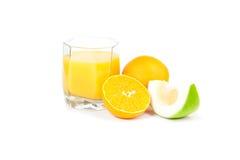 Abbildung der Orangen, grüne Pampelmuse Stockfotos