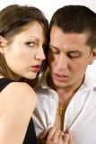 Abbildung der Paare in der Liebe Lizenzfreies Stockbild