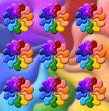 Abbildung der Regenbogenblumen Lizenzfreie Stockbilder