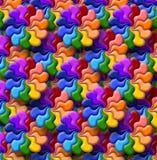 Abbildung der Regenbogenblumen Stockfotografie