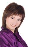 Abbildung der reizenden Frau über Weiß Lizenzfreie Stockfotografie