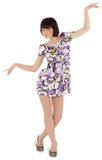 Abbildung der reizenden Frau im Kleid Lizenzfreie Stockfotografie