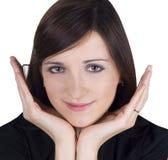 Abbildung der reizenden jungen Frau Stockfoto