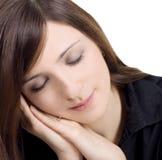 Abbildung der reizenden jungen schlafenden Frau Stockfoto