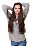 Abbildung der schönen Frau Stockfoto