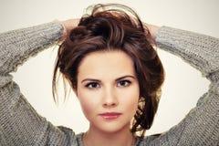 Abbildung der schönen Frau Stockfotos