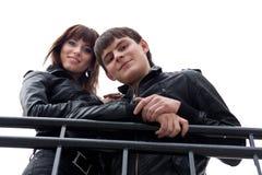 Abbildung der schönen Paare draußen Stockfotografie
