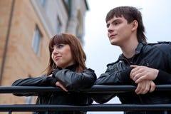 Abbildung der schönen Paare draußen Lizenzfreie Stockbilder