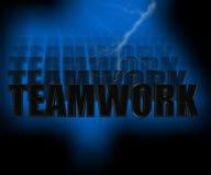 Abbildung der Teamwork-3D Lizenzfreies Stockbild