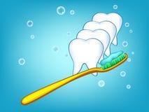 Abbildung der weißen Zähne Stockbild