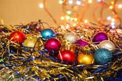 Abbildung der Weihnachtsdekoration Lizenzfreies Stockbild