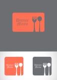 Abbildung des Abendessenlöffelsets. Stockbild