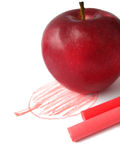 Abbildung des Apfels gemalt Stockfoto